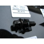 šroub M7x24mm hlava 14mm - černá black