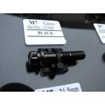 šroub M7x32mm hlava 12,9mm černá černý chrom black