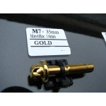 šroub M7x35mm hlava 14mm - gold zlato