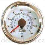 ukazatel tlaku dvojručkový bílý - VIAIR