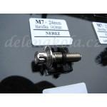 šroub M7x24mm hlava 14,9mm - nerez