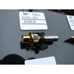 šroub M7x30mm hlava 14mm - gold zlato